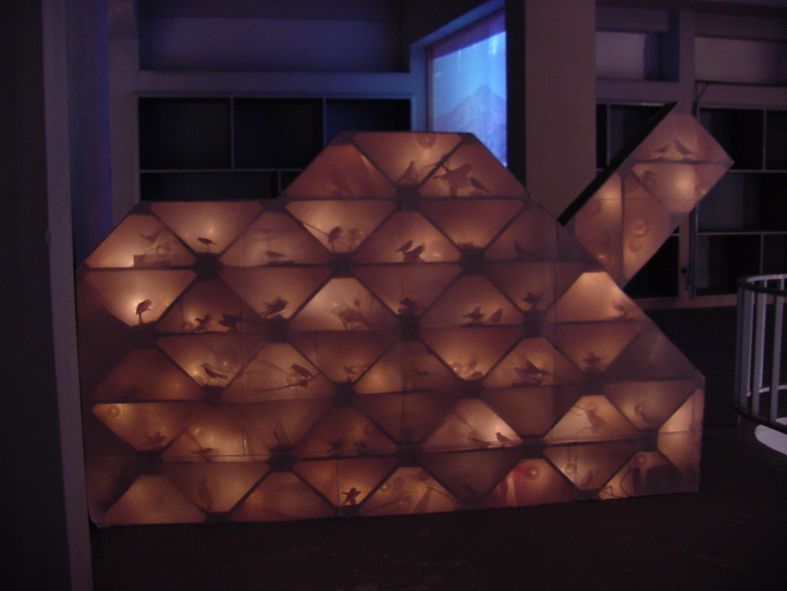 Crossing-The-Line-Installation-February-2003-wood-paper-light-source-sound-and-movement-mechanism